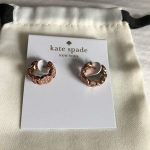Kate Spade Rose Gold Huggie Earrings